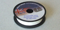 Whipping Twine Waxed - Standard Weight White 50m