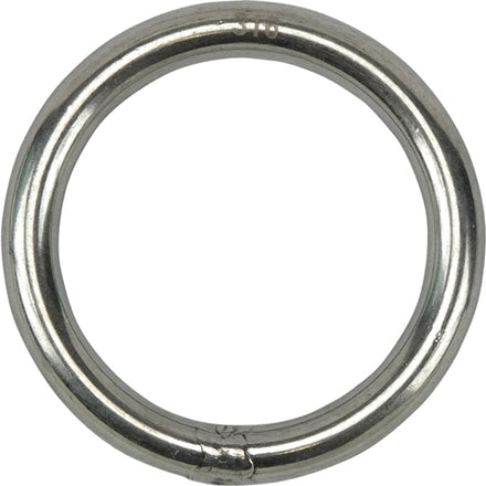 Stainless Steel Round Ring - 6mm x 40mm