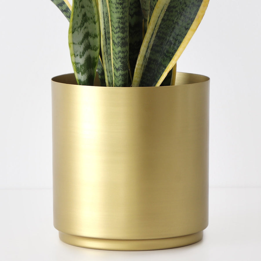 Brass Metal Plant Pot Modern Gold Planter