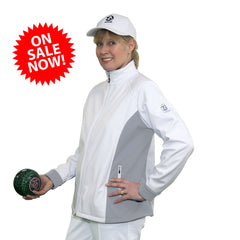 Ladies Taylor SoftShell Jacket Grey Trim Small/Medium SALE