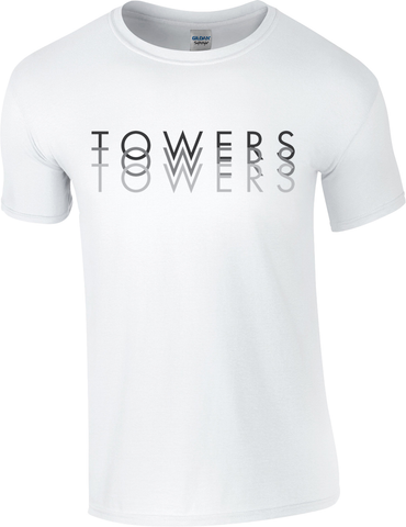 Towers Large Print 'Shadow' T Shirt