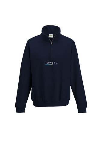 Towers Zip Neck Sweat 2