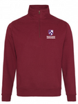 Wolfson Zip Neck Sweat