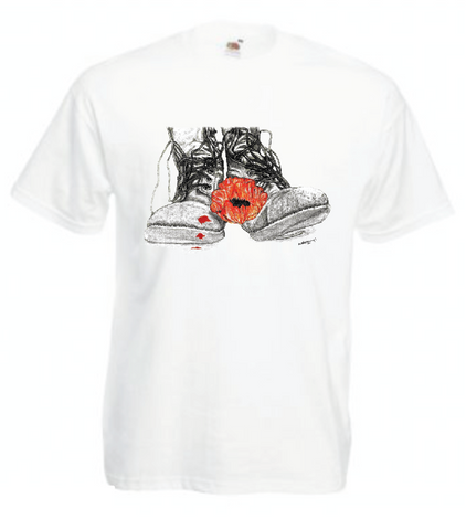 Empty Boots Poppy T Shirt