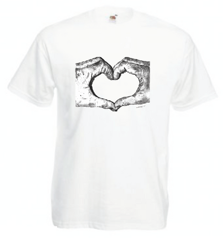 Love Heart Hands T Shirt