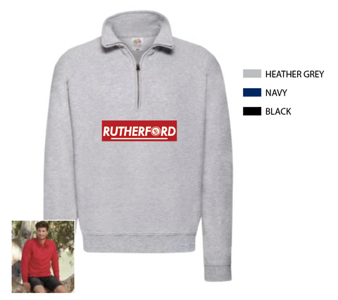 Rutherford Printed Zip Neck Sweat Shirt