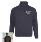 Geography Zip Neck Sweat Shirt