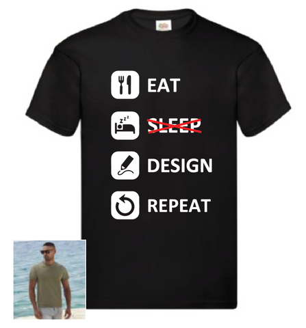 Design School 'Eat, Sleep etc' T shirt
