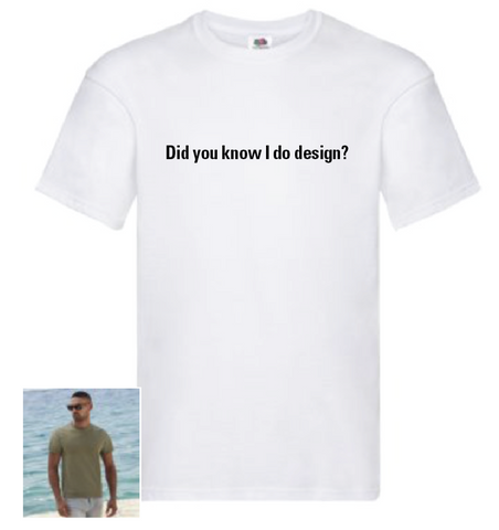 Design School 'Did You Know etc' T shirt