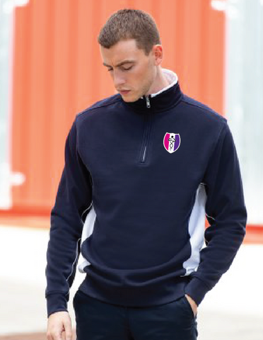 SSEHS Contrast Zip Neck Sweat