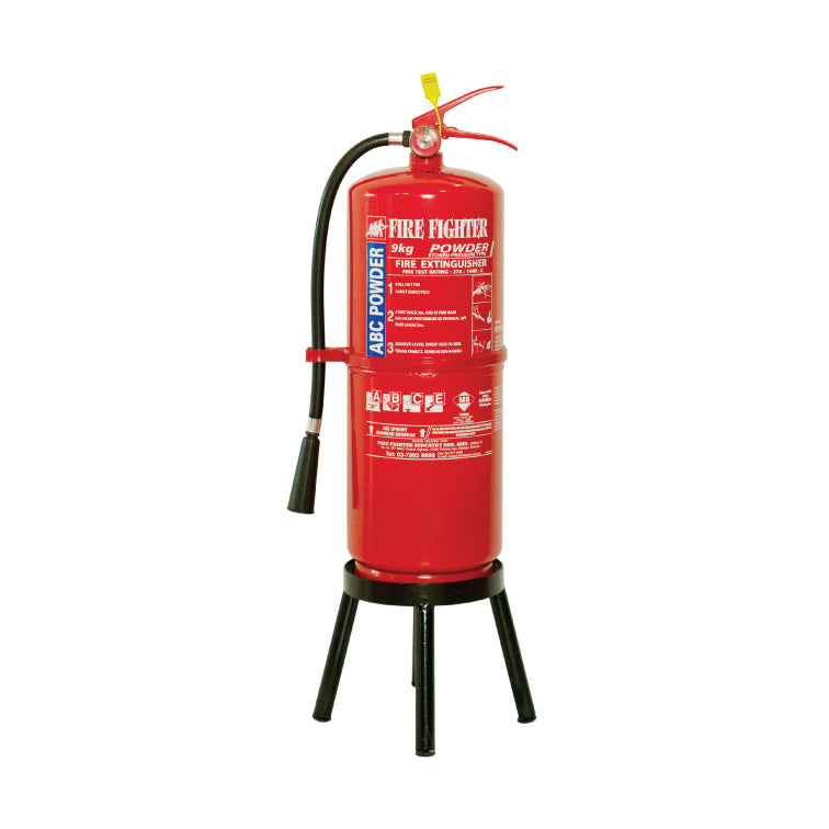9KG ABC Dry Powder Fire Extinguisher Stand (ONLINE ONLY PRICE)