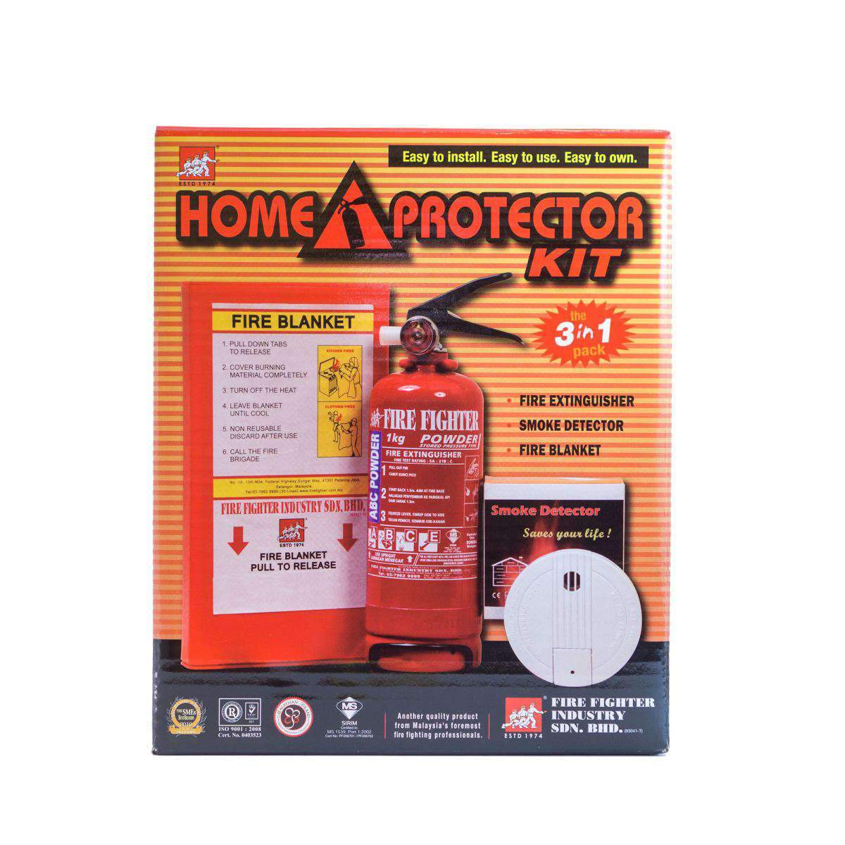 Home Protector Kit (RM255 value) Fire Fighter