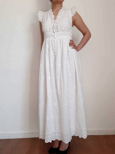 Robe broderie anglaise blanche ZOE