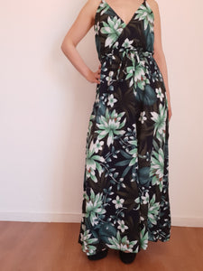 Robe longue chic tropicale SHERINE