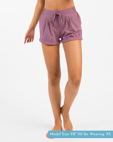 ZYIA Summer Shorts in Lavender