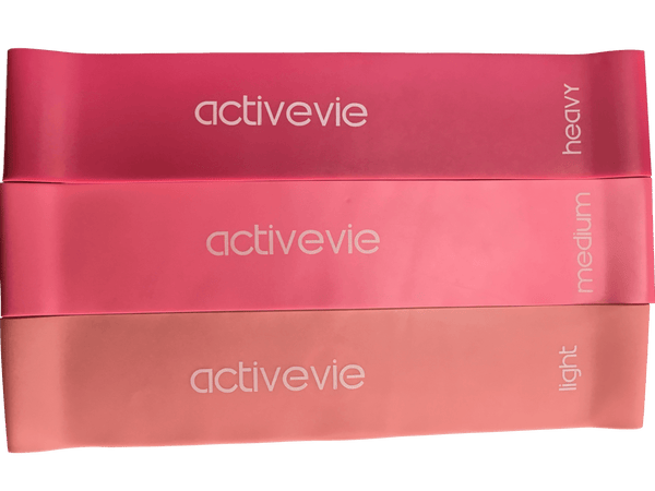 ActiveVie Latex Resistance Bands in Pink