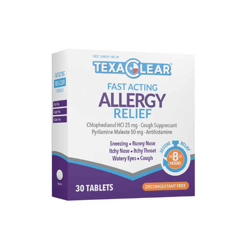 TexaClear® Fast-Acting Allergy Relief Tablets