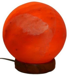 Salt Lamp Sphere Orange 10cm