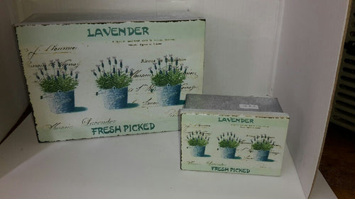 Tin Storage Containers- Lavender Picture