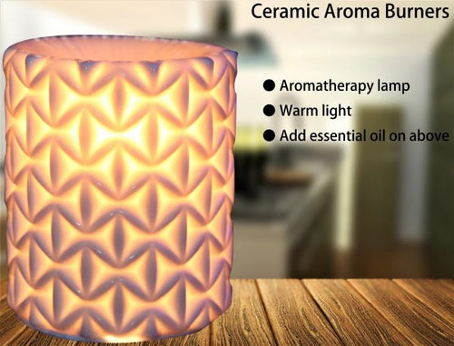 Ceramic Electric Oil Burner Geometric