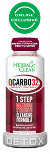 Herbal Clean QCarbo32 One-Step Same-Day Detox Drink -