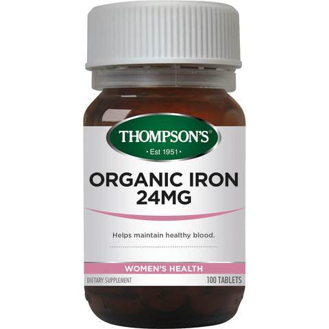 Organic Iron Comp 24mg 30tabs