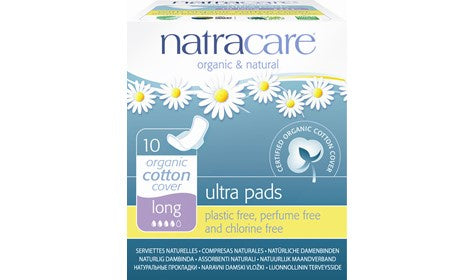 Natracare Ultra Pads With Wings Long 10s