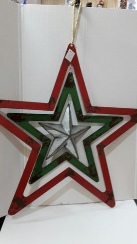 Metal Christmas Triple Star