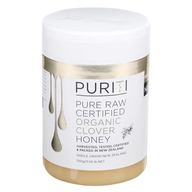 Puriti Pure Raw Organic Clover Honey 250g