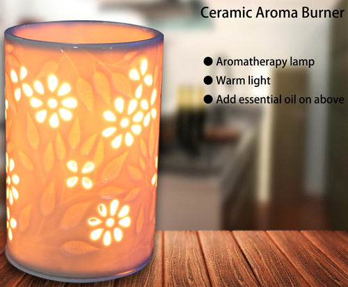 Ceramic Electric Oil Burner Floral