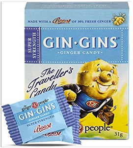 GIN GIN  CHEWY GINGER TRAVEL  BOX 31GM