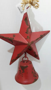 Metal Christmas Star - Red
