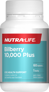 Nutralife Bilberry 10,000 Plus 30 tablets