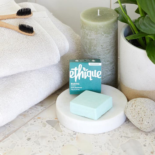 Ethique Rustic Lime, cedarwood and eucalyptus solid deodorant