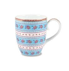 Pip Studio Porcelain Ribbon Rose Blue  Floral Mug Large