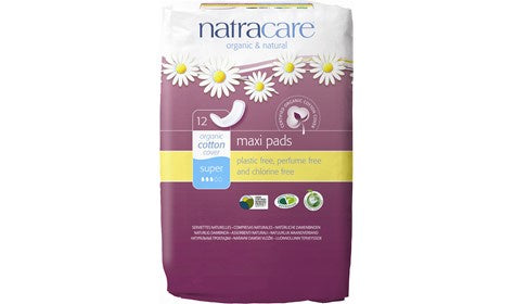 Natracare Maxi Pads Super 12s