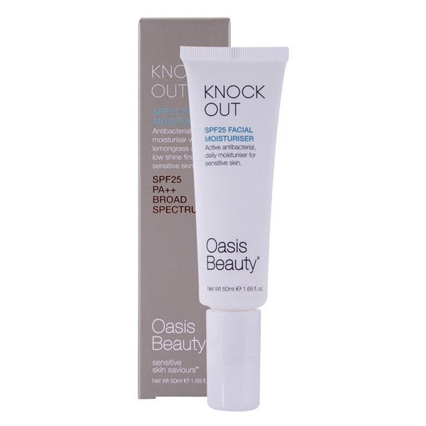 Oasis Beauty 'Knock-Out' SPF25 Facial Moisturiser (antibacterial)