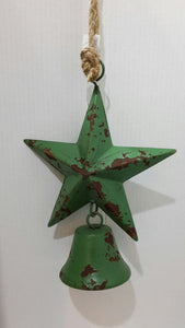 Metal Christmas Star - Green