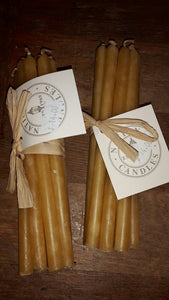 Florist taper beeswax candles - bunch of 10