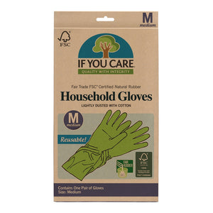 Natural Rubber Gloves (size M)
