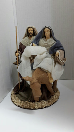 Mary, Joseph & Baby Jesus  on Donkey Figure