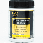 GO FLAXSEED OIL 1,500mg 210 Caps - High Potency NZ Organic Certified