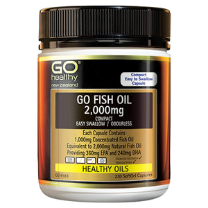 Fish Oil 2,000mg Compact Odourless  230 capsules