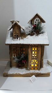 Snowy Wooden House (Lightup)
