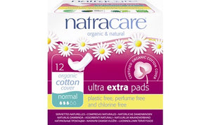 Natracare Ultra Extra Pads With Wings Normal 12s
