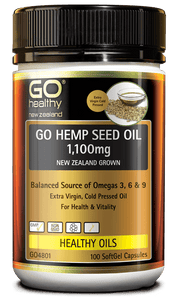 GO HEMP SEED OIL 1,100MG NEW ZEALAND GROWN