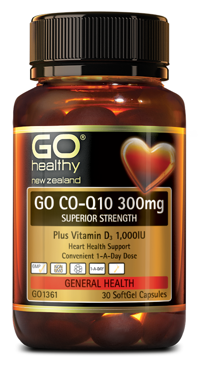 GO CO-Q10 300mg + Vitamin D3 1,000IU
