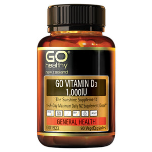 GO VITAMIN D3 1,000IU - The Sunshine Supplement