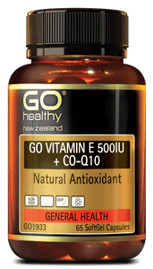 GO VITAMIN E 500IU + CoQ10 - Natural Antioxidant