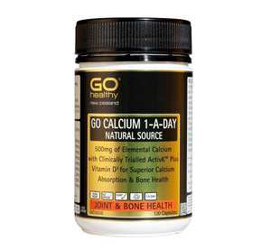 GO CALCIUM 1-A-DAY-Natural, 500mg Elemental + K2 & D4